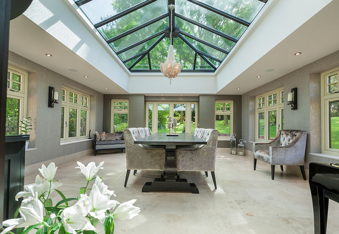 Orangery interior with Residence collection windows