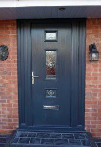 Anthracite grey composite front door