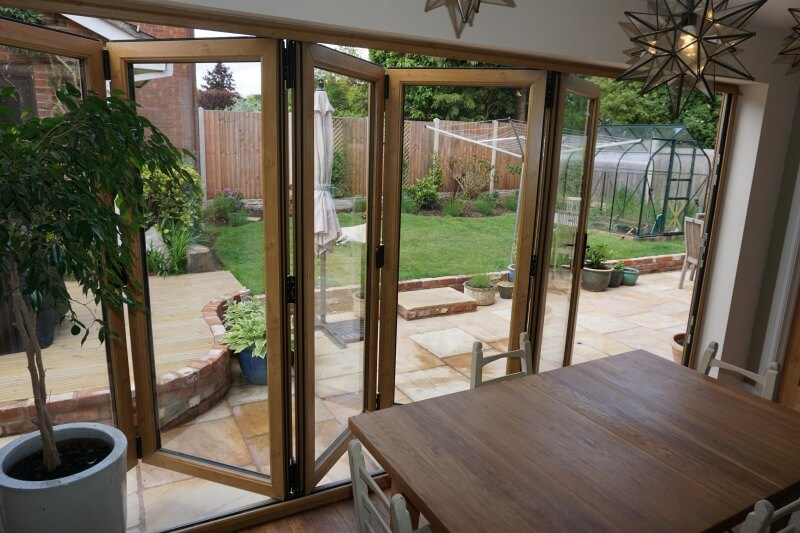 Irish Oak uPVC bifold doors